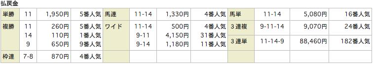 競馬リンクスLinks_20151018東京6R_レース結果