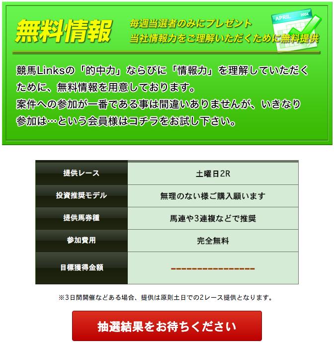 競馬リンクス_無料情報エントリー