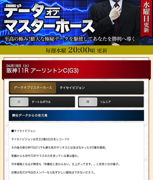 ギャロップジャパン データオブマスターについて