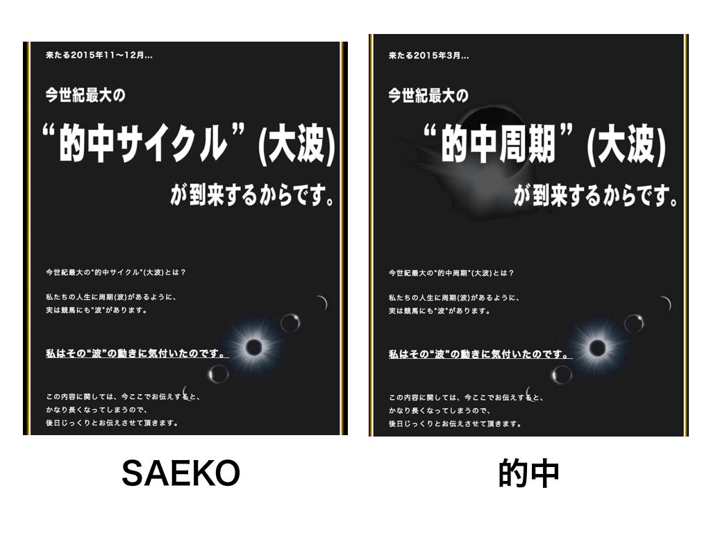SAEKOサエコ_的中と酷似02