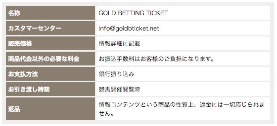 goldbettingticketゴールドベッティングチケット_特定商取引法に基づく表記