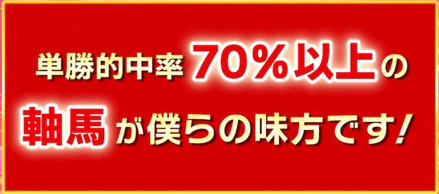 ゆ〜じ秘伝の三連単_単勝的中率70%以上