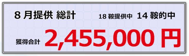 山崎馬券会_8月度実績