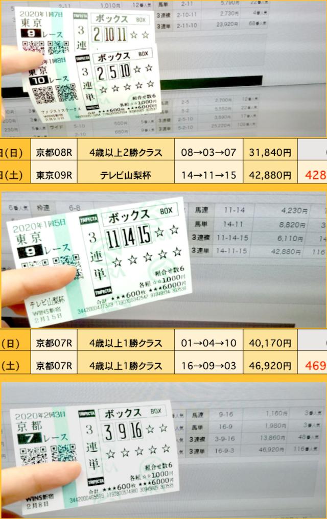 日本一競馬で稼げた買い目 全ての的中実績画像