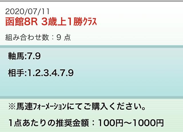 勝馬の栞無料7月11日参加