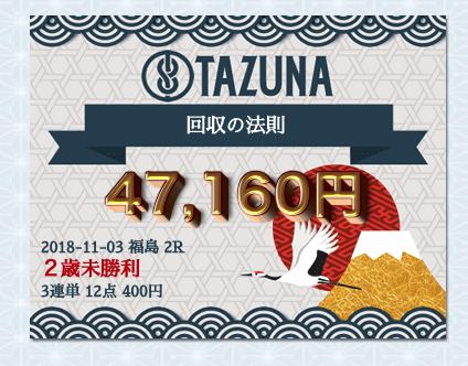 TAZUNA的中実績検証